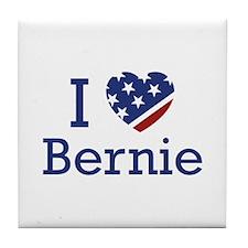 I Love Bernie Tile Coaster