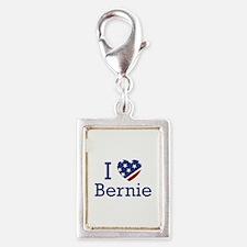 I Love Bernie Silver Portrait Charm