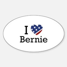 I Love Bernie Sticker (Oval)