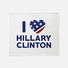 I Love Hillary Clinton Stadium Blanket