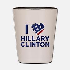 I Love Hillary Clinton Shot Glass