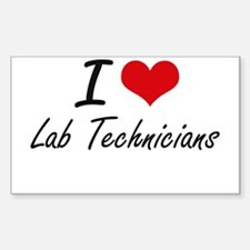 I Love Lab Technicians Decal