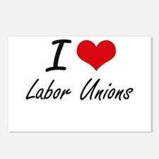 I Love Labor Unions Postcards (Package of 8)