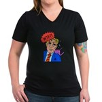 WTF Women's V-Neck Dark T-Shirt