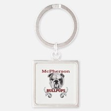 McPherson Bullpup Design Square Keychain