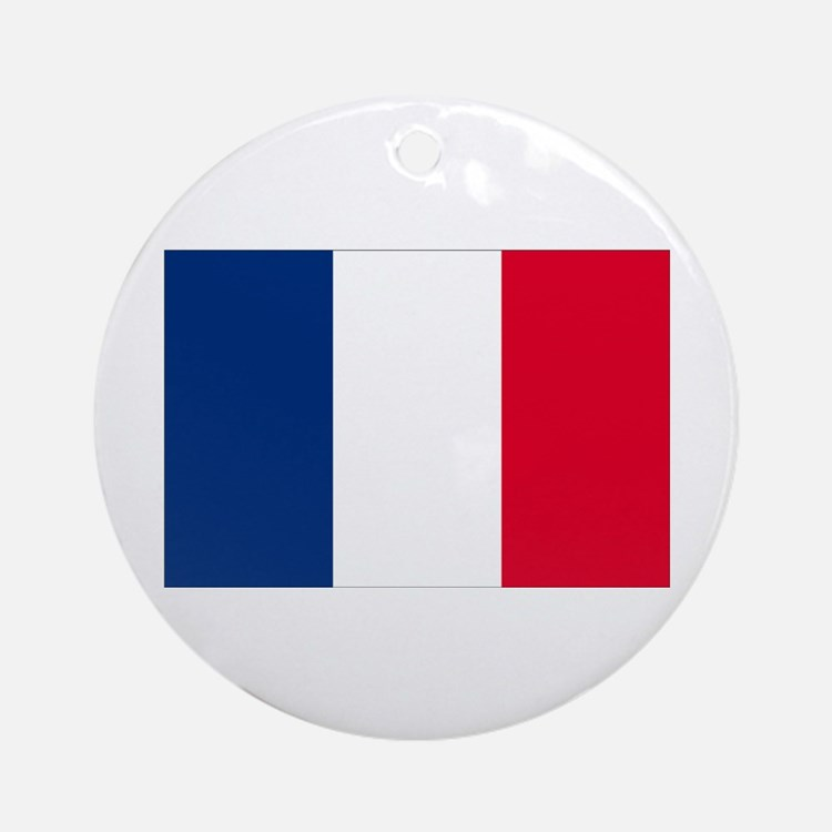 French Flag Ornament (Round)
