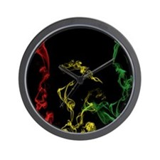 Rasta Smoke Wall Clock