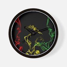Rasta Smoke Wall Clock