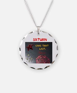 Saturn Cars That Last. Necklace