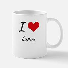 I Love Larva Mugs