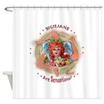 Sensational Sicilians Shower Curtain