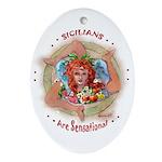 SICILIAN TRINACRIA Ornament (Oval)