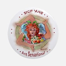 SICILIAN TRINACRIA Ornament (Round)