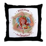 SICILIAN TRINACRIA Throw Pillow