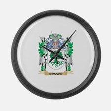 Connor Coat of Arms - Family Cres Large Wall Clock