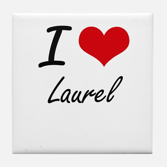 I Love Laurel Tile Coaster