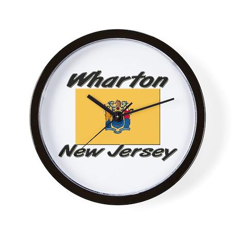 Wharton new jersey wall clock by ilovecities for Wharton cad