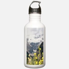 mountain landscape lak Water Bottle