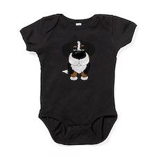 Cute Berner dog Baby Bodysuit