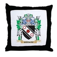 Conway Coat of Arms - Family Crest Throw Pillow