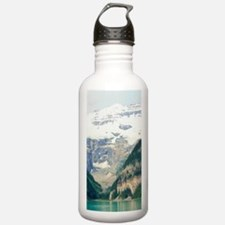 mountain landscape lak Water Bottle