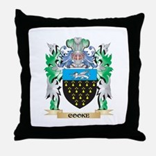 Cooke Coat of Arms - Family Crest Throw Pillow