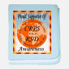 Proud Supporter of CRPS RSD Awareness baby blanket