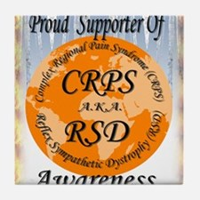 Proud Supporter of CRPS RSD Awareness Tile Coaster
