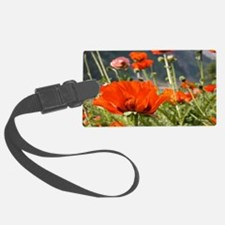 bold red poppy flower Luggage Tag