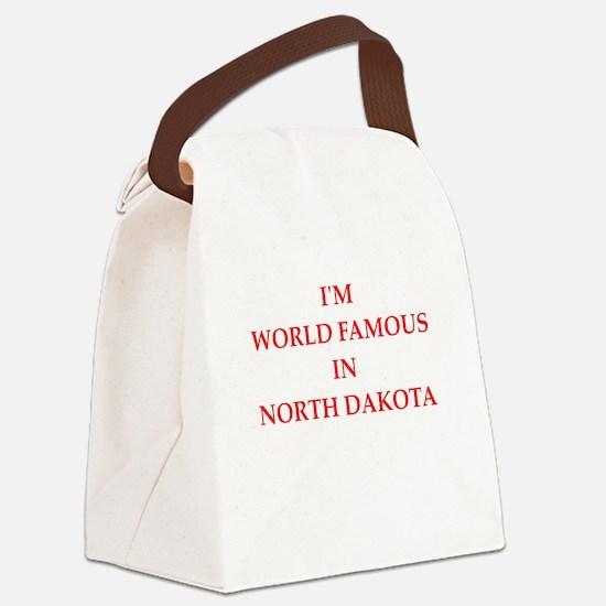 north dakota Canvas Lunch Bag