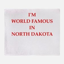 north dakota Throw Blanket