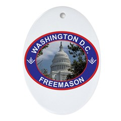 Washington D.C. Freemason Oval Ornament