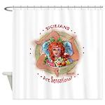 Sensational Sicilians Shower Curtain