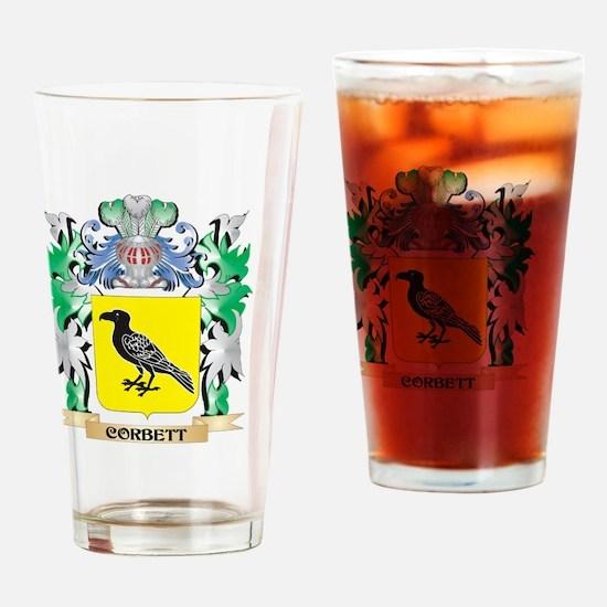 Corbett Coat of Arms - Family Crest Drinking Glass