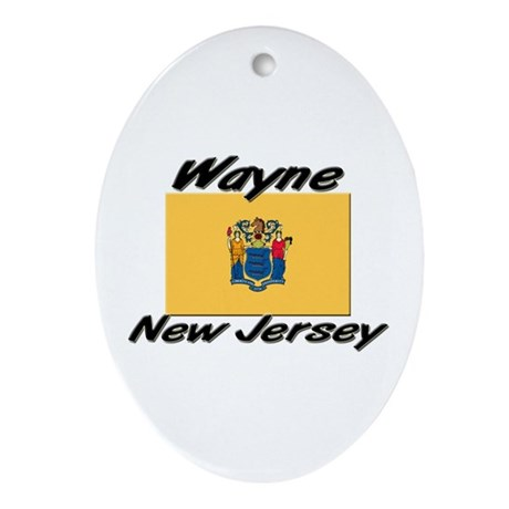 Wayne New Jersey Oval Ornament
