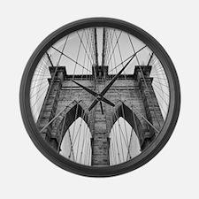 Brooklyn Bridge New York City clo Large Wall Clock