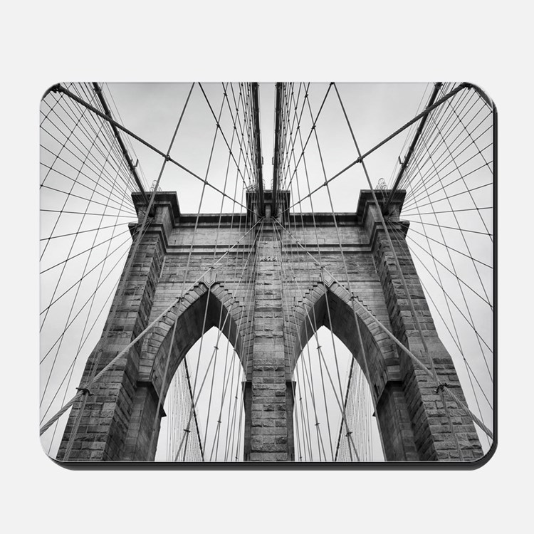 Brooklyn Bridge New York City close up a Mousepad