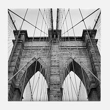 Brooklyn Bridge New York City close u Tile Coaster