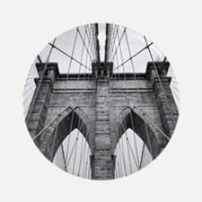 Brooklyn Bridge New York City close Round Ornament