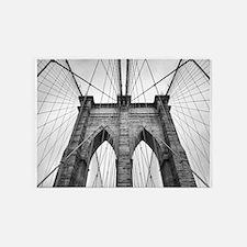 Brooklyn Bridge New York City close 5'x7'Area Rug