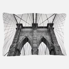 Brooklyn Bridge New York City close up Pillow Case