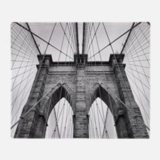 Brooklyn Bridge New York City close Throw Blanket