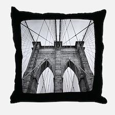 Brooklyn Bridge New York City close u Throw Pillow