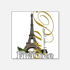 "Funny France Square Sticker 3"" x 3"""