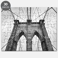 Brooklyn Bridge New York City close up arch Puzzle