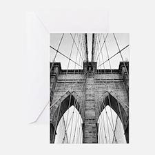 Brooklyn Bridge New York City close Greeting Cards
