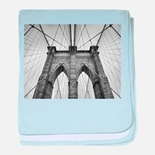 Brooklyn Bridge New York City close u baby blanket