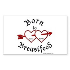 Born to Brestfeed Rectangle Decal