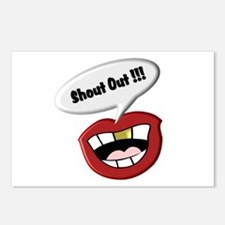 Funny Shout Out Mouth Postcards (Package of 8)