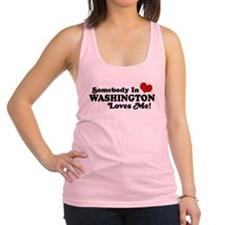 Funny Someone in las vegas loves me Racerback Tank Top